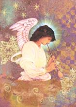#3183<br>Glowing AngelChristmas Angel Card