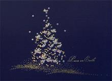 #3205<br>Shimmering Tree of DovesHoliday Peace Dove Card
