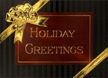 #3988<br>A Golden Holiday GiftCorporate Holiday Greetings