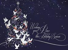 #4924<br>Wishing You PeacePatriotic USA Christmas Card