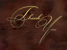 #4535<br>Elegant Thank youBusiness Thank You Card