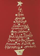 #6676<br>A Tree of GreetingsChristmas Tree Card