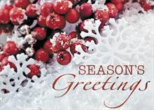 Season's Greetings in the Snow
