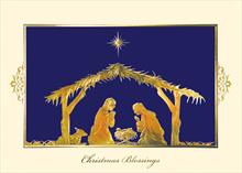 #5758<br>Holy Family NativityReligious Christmas Card