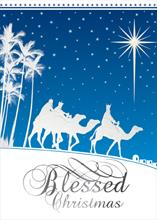 #5759<br>Blessed Christmas Three KingsReligious Christmas Card