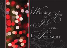 #5760<br>Sparkling Holiday LightsJoys of the Season Holiday Card