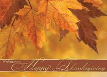 #5761<br>Fall Leaf Happy ThanksgivingHappy Thanksgiving Holiday Card
