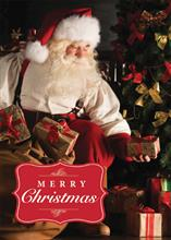 #5751<br>Santa with Toy BagSanta Merry Christmas Card