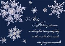 #5809<br>Business Snowflakes on BlueBusiness Appreciation Holiday Card