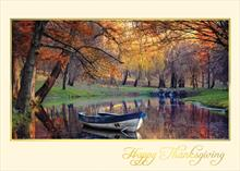 #5770<br>Autumn&#39;s Final DaysBusiness Happy Thanksgiving Card