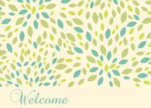 Welcome green & blue floral
