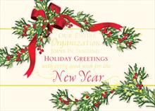 #6050<br>Corporate Holiday Greetings SwagPersonalized Corporate Holiday Card