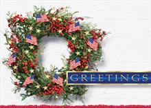 #6052<br>Celebrate FreedomPatriotic USA Christmas Card