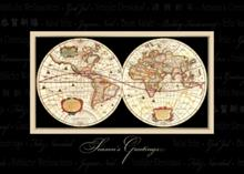 #3683<br>Global Greetings of PeaceWorld Map Holiday Card