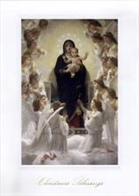 #1225<br>&quot;The Virgin with Angels&quot; by BourguereauReligious Christmas Card