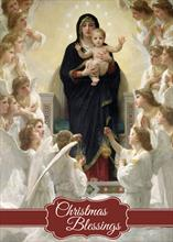 #6425<br>The Virgin and AngelsReligious Christmas Card