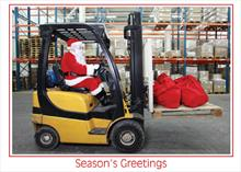 #6529<br>Forklift SantaWarehouse Business Christmas Card