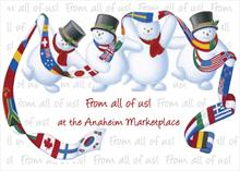 #6897<br>The Gangs all Here!Personalized Christmas Card for Business