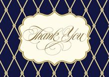 #6463<br>Handsome blue diamond Thank YouBusiness Thank You card