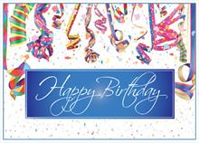 #6466<br>Woohoo! It&#39;s a party!Corporate Birthday Card