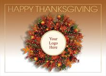 #2079<br>Thanksgiving Logo Wreath