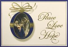 #3548<br>Peace, Love and HopeReligious Christmas Card