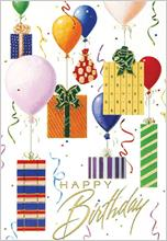#3064<br>Floating Birthday GiftsBirthday Greeting Card