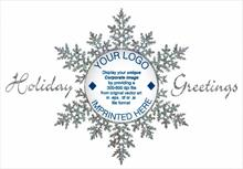 #6289<br>Snowflake LogoBusiness Logo Christmas Card