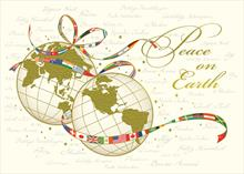 #6606<br>International Globes of PeaceBusiness Holiday Card