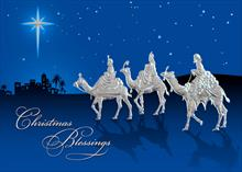 #6330<br>Blessings of the WisemenWisemen Religious Greeting Card