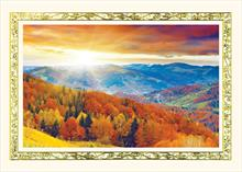 #6609<br>Mountain Fall FoliageThanksgiving Holiday Card