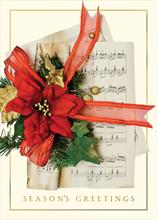 #6300<br>Holiday HarmonyMusic Themed Christmas Card