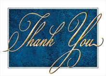 #6465<br>Handsome Blue Marble Thank YouCorporate Thank You Card