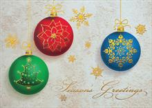 #6648<br>Bright Christmas BaublesChristmas Ornament Cards