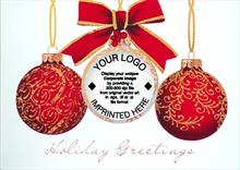 #6306<br>Shimmering Ornaments LogoBusiness Logo Greeting Card