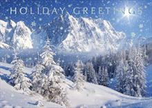 #6308<br>Snowy Peaks of the SeasonWinter Holiday Christmas Greeting