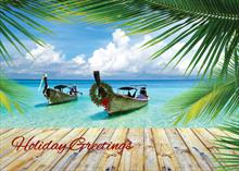 #6311<br>Island WishesTropical Christmas Card