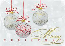 #6607<br>Merry Christmas OrnamentsMerry Christmas Card