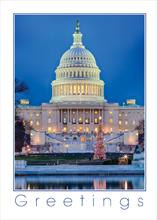 #6542<br>Greetings from D.C.Washington, D.C. Christmas Card